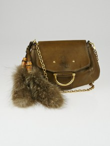Gucci Green Smooth Leather Smilla Small Chain Bag