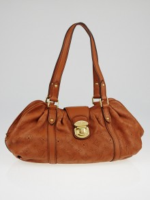 Louis Vuitton Cognac Monogram Mahina Leather Lunar PM Bag