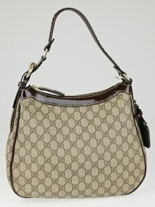 Gucci Beige/Ebony GG Coated Canvas Shoulder Bag