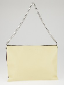 Celine Vanilla Lambskin Leather Soft Trio Zipped Bag