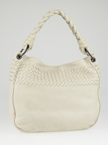 Bottega Veneta Cream Cervo Leather Hobo Bag