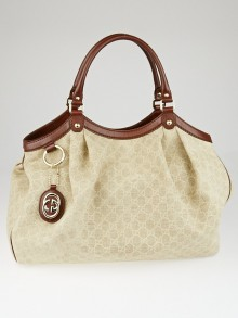 Gucci Beige/Brown GG Canvas Large Sukey Tote Bag