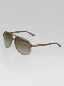Gucci Beige Frame Mirror Aviator Sunglasses - 1026
