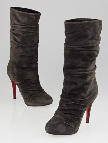 Christian Louboutin Africa Suede Piros 120 Mid-Height Boots Size 5.5/36