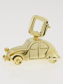 Louis Vuitton 18k Yellow Gold and Yellow Sapphire Citroen 2CV Car Charm Pendant