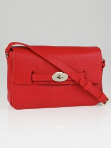 Mulberry Red Lizard Embossed Leather Bayswater Shoulder Bag