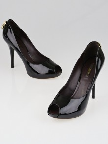 Louis Vuitton Amarante Patent Leather Oh Really! Peep Toe Pumps Size 9/39.5