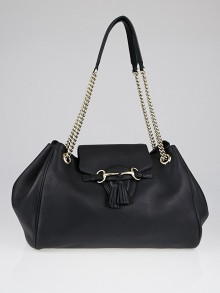 Gucci Black Leather Emily Large Shoulder Bag