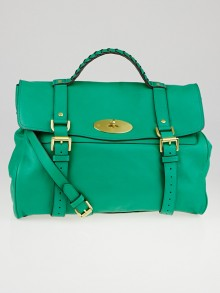 Mulberry Bright Cabbage Soft Buffalo Leather Oversized Alexa Satchel Bag