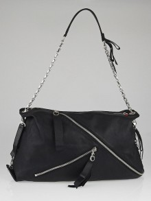 Christian Louboutin Black Leather Trophe Large Shoulder Bag