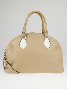 Christian Louboutin Beige Leather Panettone Large Satchel Bag