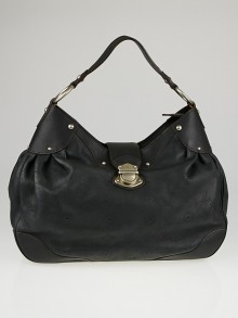 Louis Vuitton Black Mahina Leather Solar GM Bag