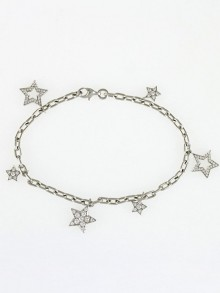 Tiffany & Co. Platinum and Diamond Star Charm Bracelet