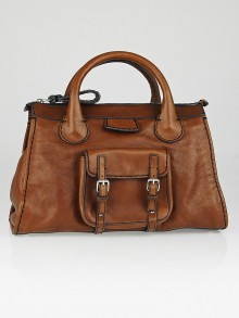 Chloe Brown Leather Edith Satchel Bag