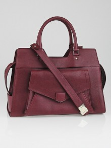 Proenza Schouler Burgundy Leather Small PS13 Keep All Bag