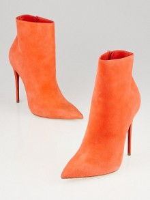 Christian Louboutin Papaye Suede So Kate Booty 120 Ankle Boots Size 4/34.5