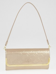Louis Vuitton Beige Poudre Monogram Vernis Rossmore Clutch Bag