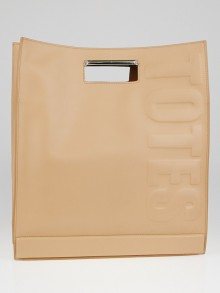 3.1 Phillip Lim Nude Cowhide Leather Totes Amaze Tote Bag