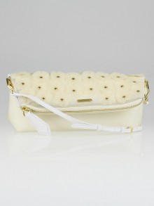 Burberry Prorsum White PVC Petal Clutch Bag