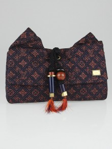 Louis Vuitton Limited Edition Indigo Monogram Metisse African Queen Clutch Bag