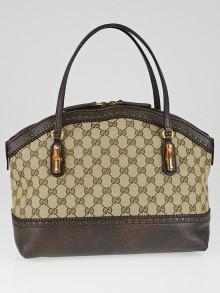 Gucci Beige/Ebony GG Canvas Laidback Crafty Top Handle Tote Bag