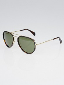 Celine Tortoise Shell Acetate Aviator Sunglasses-41032/S