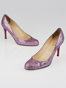 Christian Louboutin Pivoine Lady Glitter Simple 85 Pumps Size 6.5/37