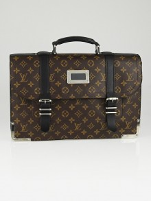 Louis Vuitton Monogram Macassar Canvas Larry Briefcase Bag