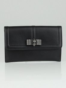 Christian Louboutin Black Leather Sweet Charity Pochette Wallet
