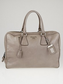 Prada Argilla Nappa Antique Leather Bauletto Bag BL0630