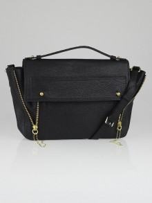 3.1 Phillip Lim Black Shark Embossed Leather Pashli Messenger Bag