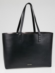 Mansur Gavriel Black/Graffite Leather Small Tote Bag