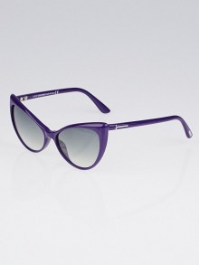 Tom Ford Purple Acetate Frame Cat-Eye Anastasia Sunglasses-TF303