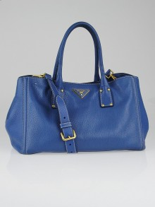 Prada Cobalto Vitello Daino Leather Tote Bag BN2047
