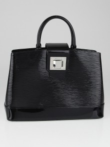 Louis Vuitton Black Electric Epi Leather Mirabeau GM Bag