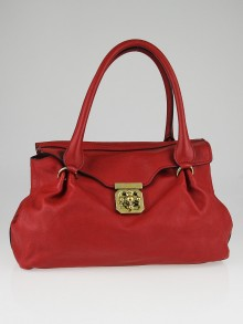 Chloe Cherry Leather Elsie East/West Satchel Bag