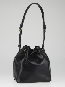 Louis Vuitton Black Epi Leather Petite Noe Bag