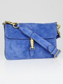 Gucci Cerulean Blue Suede Soft Jackie Shoulder Bag