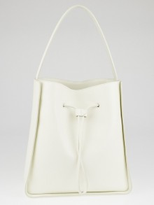 3.1 Phillip Lim Off-White Leather Large Soleil Drawstring Bucket Bag
