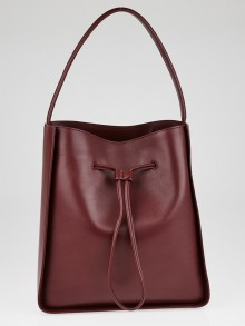 3.1 Phillip Lim Burgundy Leather Soleil Large Bucket Bag