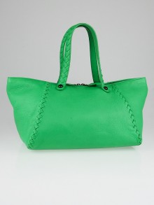 Bottega Veneta Green Cervo Leather Tote Bag