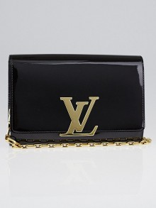 Louis Vuitton Amarante Vernis Chain Louise Clutch GM Bag