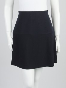 Balenciaga Dark Blue Silk Blend Mini Skirt Size 4/36