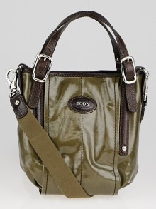Tod's Green Coated Canvas G-Bag Easy Sacca Mini Bag