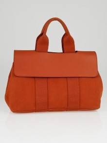Hermes Orange Canvas and Leather Valparaiso PM Bag
