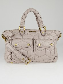 Miu Miu Mughetto Trapuntato Soft Leather Bauletto Bag RN0621