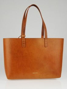 Mansur Gavriel Cammello/Orange Leather Small Tote Bag