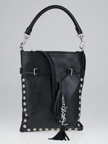 Yves Saint Laurent Black Leather Studded Bo Bag