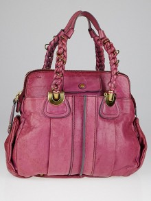 Chloe Pink Calfskin Leather Heloise Large Satchel Bag