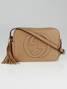 Gucci Brown Pebbled Leather Soho Disco Small Shoulder Bag